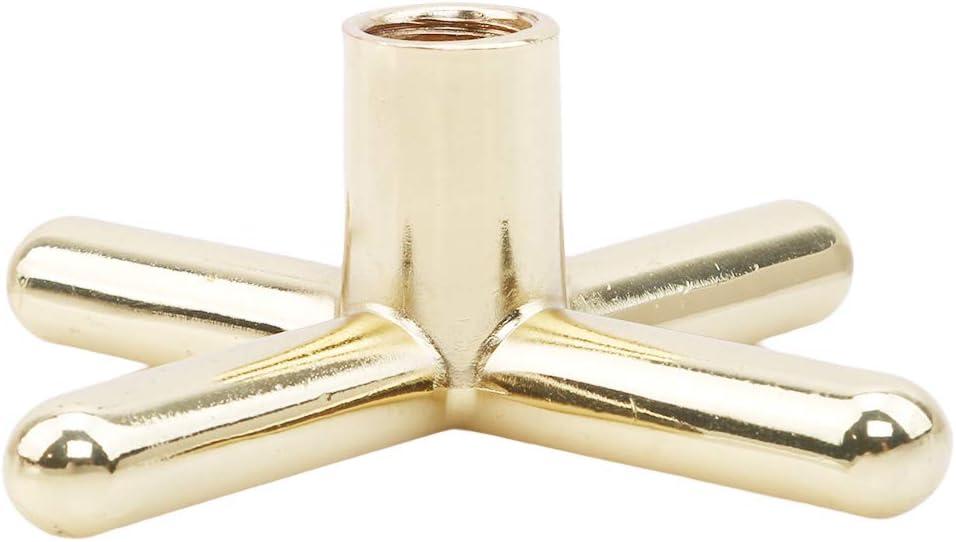 Jixing Snooker Billiards Table Pool Cue Brass Cross Holder Rests Non Slip Cue Accessory,Golden metal cross,Metal copper plating