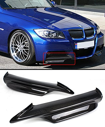 Bmw 330i Front Bumper - CARBON FIBER FRONT BUMPER SPLITTER FOR 2006-2008 BMW E90 E91 3 SERIES WITH M SPORT/M TECH BUMPER ONLY