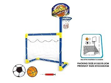 YIY - Juego de Baloncesto de fútbol portátil para niños en ...