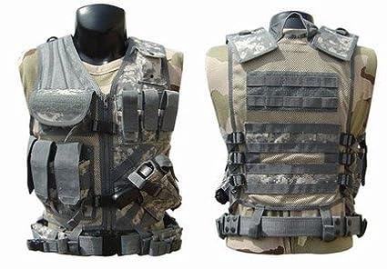 Amazon.com   Tactical Crossdraw Military Cross Draw Vest w Pistol ... 5f58d819cd3
