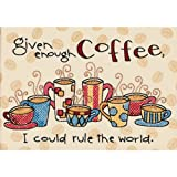Dimensions Enough Coffee Mini Stamped Cross Stitchkit, 7