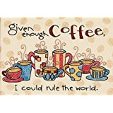 Dimensions Needlecrafts Stamped Cross Stitch, Enough Coffee