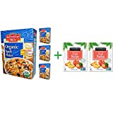 Arrowhead Mills, Organic Spelt Flakes, 12 oz (340 g)( 4 PACK )+ ( 2 PACK ) Stoneridge Orchards, Sliced Peaches, Dried Tree-Ripened Summer Peaches, 4 oz (113 g)