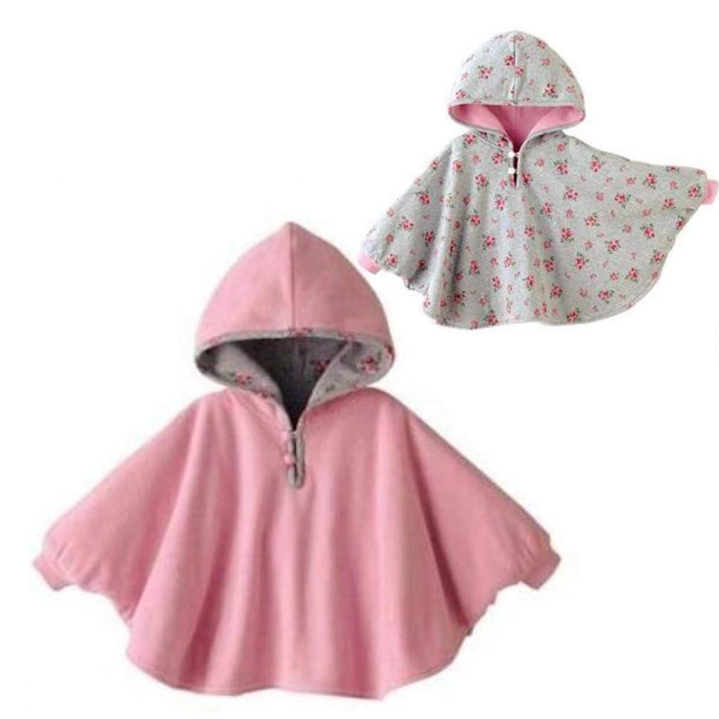 Gaorui Baby Kids Toddler Double-Side Wear Hooded Cape Cloak Poncho Hoodie Coat Outwear Romper