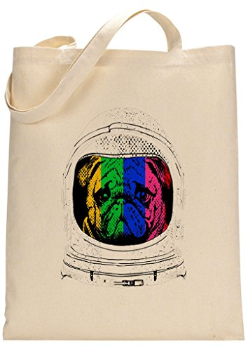 Pug Astronaut Funny Custom Made Tote Bag