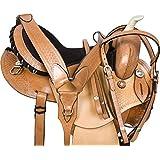 PREMIUM WESTERN BARREL RACING HORSE TRAIL SADDLE TACK 14 15 16
