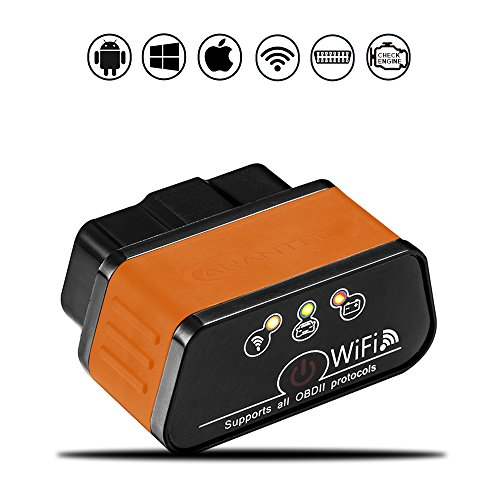 CARANTEE Car WIFI OBD2-Automotive Diagnostic Scan Tool Code Reader to Check Engine Light, Read & Clear Trouble Codes for most vehicles, supports IOS Android & Windows