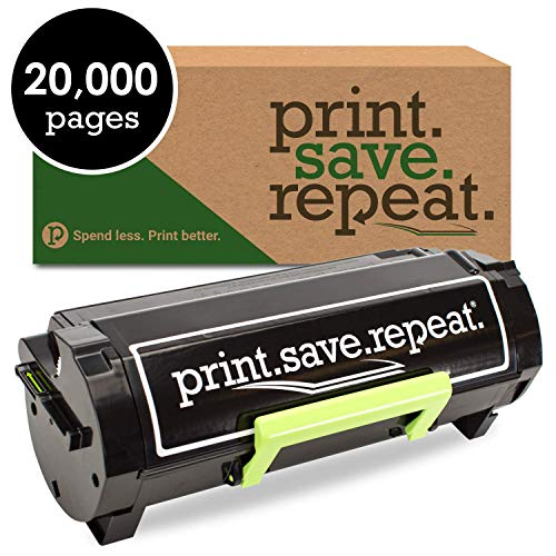 Print.Save.Repeat. Lexmark 501U Ultra High Yield Remanufactured Toner Cartridge for MS510, MS610 [20,000 Pages]