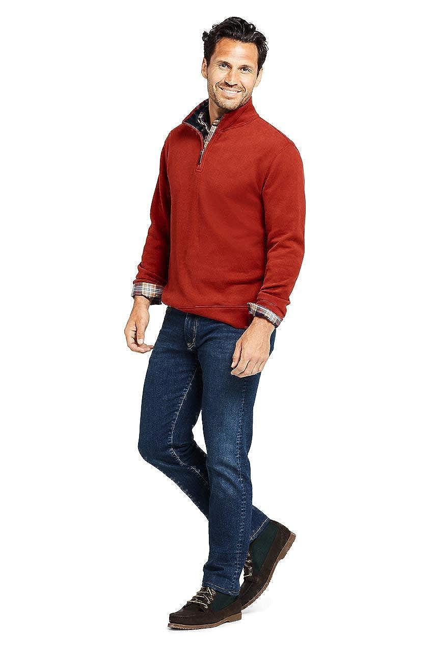 Lands End Mens Bedford Rib Quarter Zip Sweater