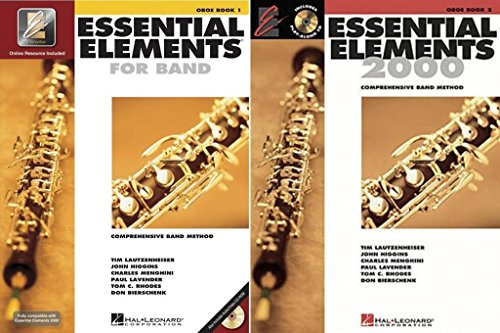 Essential Elements for Band - Oboe, Books 1-2, 2 Book Set, EE OBOE BKS 1-2 - Elements Essential Oboe