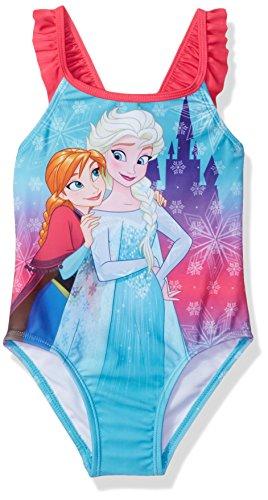 Disney Princess Toddler Girls' Frozen Swimsuit, Sky Blue, 2T