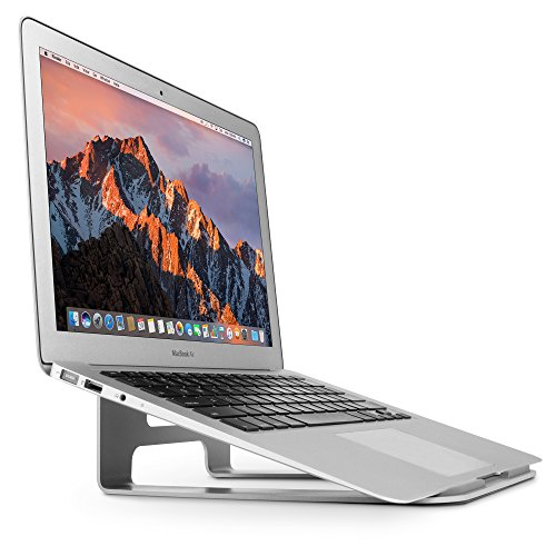Twelve South ParcSlope for MacBook and iPad Pro, silver | Hybrid laptop stand and tablet desktop wedge