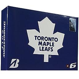 Bridgestone NHL E6 Golf Balls, Toronto Maple Leafs