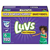 Health & Personal Care : Branded Luvs Ultra Leakguards Diapers - Diaper Size Size 6 - 192 Ct. (Bulk Qty at Whoesale Price, Genuine & Soft Baby diaper)