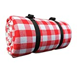 DADAO Large Picnic Blanket Waterproof Outdoor Mat,Kids for Music Festival, Parade, Hiking, Camping - Lightweight,Rainbowstrip,300x300cm