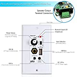 Pyle Bluetooth Receiver Wall Mount | In-Wall