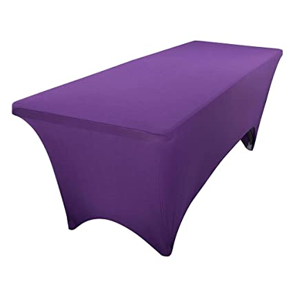 35bb0951ea390 Image Unavailable. Image not available for. Color  BTSKY 6FT Rectangular  Stretch Tablecloth ...