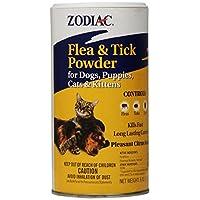 Polvo para pulgas y garrapatas del zodiaco para perros, cachorros, gatos y gatitos, 6 onzas