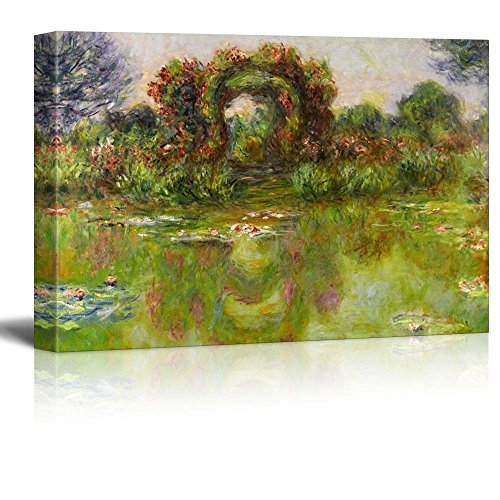 Lily Pond The Roses (Bassin AUX Nymphéas Les Rosiers) by Claude Monet Impressionist Art