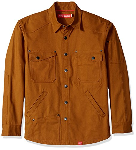 Cotton Canvas Jacket (Red Kap Men's Shirt Jac With Mimix Technology, Timber Brown/Charcoal Red, Medium)