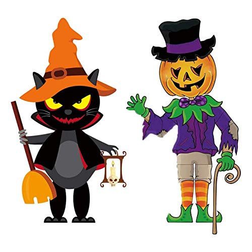 Audoyon 2 Pack Halloween Hanging Decoration,Creative Halloween Pendant Ornaments for Home Door Window Wall Party, DIY Hanging Banners for Haunted House,Store Decoration, Outdoor Christmas