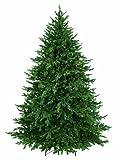 GKI Bethlehem Lighting 7.5-Feet PE and PVC Tips Pre-Lit Hunter Christmas Tree with 850 Clear Mini Lights