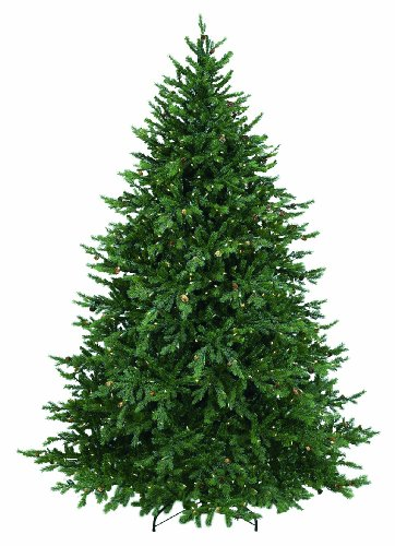 GKI Bethlehem Lighting 7.5-Feet PE and PVC Tips Pre-Lit Hunter Christmas Tree with 850 Clear Mini Lights