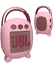 Silicone Cover Case for JBL Clip 4 Portable Bluetooth Speaker, Protective Carrying Case for JBL Clip 4 Portable Bluetooth Speaker (Only Cover) (Pink)