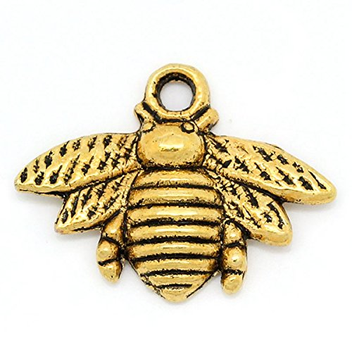 l Bee Charm Pendants 21mm x 16mm(7/8