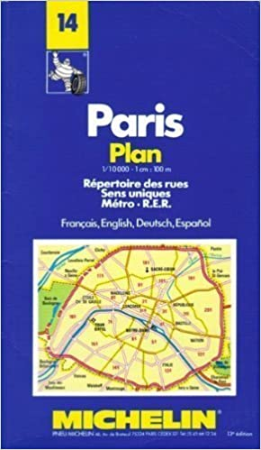 Book Paris Plan: Repertoire Des Rues Sens Uniques Metro R.E.R./Francais, English, Deutsch, Espanol (No 14) by Pneu Michelin (Firm) (1992-08-03)