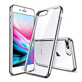 ESR iPhone 8 Plus Case, iPhone 7 Plus Case,Slim iPhone 8 Plus Clear Soft TPU Cover with Electroplated Frame for 5.5' iPhone 8 Plus(2017)/iPhone 7 Plus(2016)(Silver)