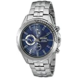 Seiko ReCraft Series Blue Dial Solar Chronograph with Stopwatch Function SSC381