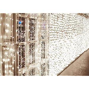 600 LED Catena IDESION 6M x 3M Tenda di Luci con 8 Modalità di Illuminazione, Barriera Fotoelettrica a LED per Camera or Esterno Luci Decorative Luci Natalizie per Atmosfera Romatica(Bianco Freddo) 3 spesavip