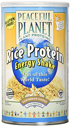 Veglife Rice Protein Energy Shake Powder  Caribbean Cocoa  374 Gram