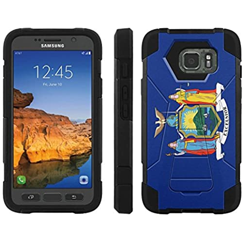 AT&T [Galaxy S7 Active] ShockProof Case [ArmorXtreme] [Black/Black] Hybrid Defender [Kickstand] - [New York Flag] for Samsung Galaxy [S7 Active] Sales