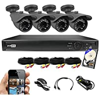 Best Vision 8CH 1TB TVI/AHD/Analog/IP 1080P HD Security Surveillance System with (4) 2MP Outdoor Bullet Cameras – Hikvision Compatible