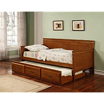 coaster home furnishings 300036oak traditional daybed oak