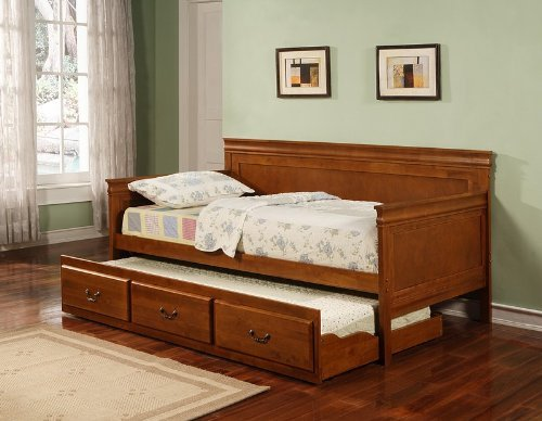 Coaster Home Furnishings 300036OAK Traditional Daybed, Oak (Traditional Daybed Wood)