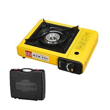 Estufa portátil de la cocina de gas que acampa, sola ...