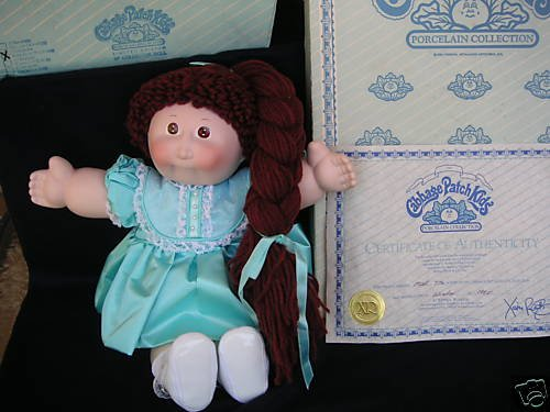 1985 Cabbage Patch Kids Melanie Susanne Porcelain Doll 16
