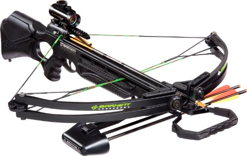 Barnett Wildcat C5 Black Crossbow Package (Quiver, 3 - 20-Inch Arrows and Premium Red Dot Sight) by Barnett (Image #1)