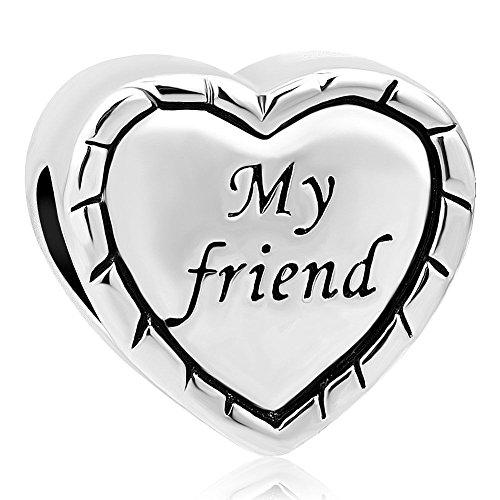 DemiJewelry My Friend Charms Today Heart Beads for Charm Bracelet
