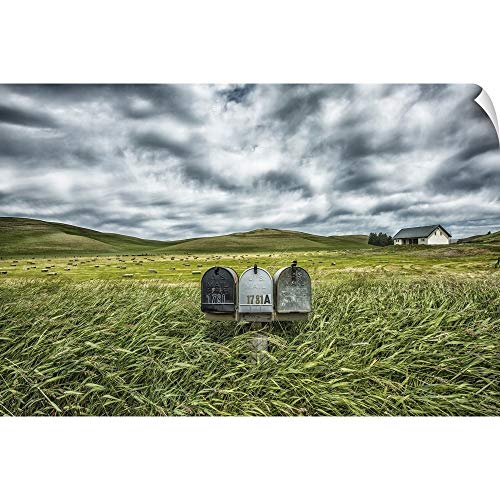 CANVAS ON DEMAND Scott Stulberg Wall Peel Wall Art Print Entitled Mailboxes in Rural Area of The Palouse, Washington 60