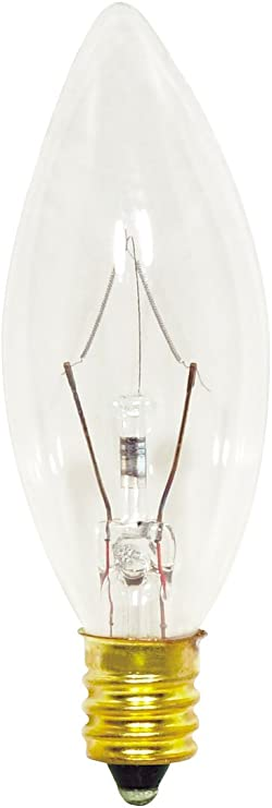 Satco S3346 120v Candelabra Base 25 Watt B8 Light Bulb Clear Novelty T Shirts Amazon Com