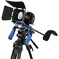 Morros DSLR Rig Set Movie Kit shoulder mount rig with Matte Box for All DSLR Cameras and Video Camcorders