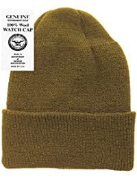 Military Genuine GI Winter USN Warm Wool Hat Watch Cap USA Made 383b805d714