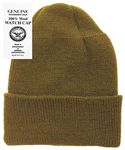 Military Genuine GI Winter USN Warm Wool Hat Watch Cap (Coyote) 9a743ec66e96