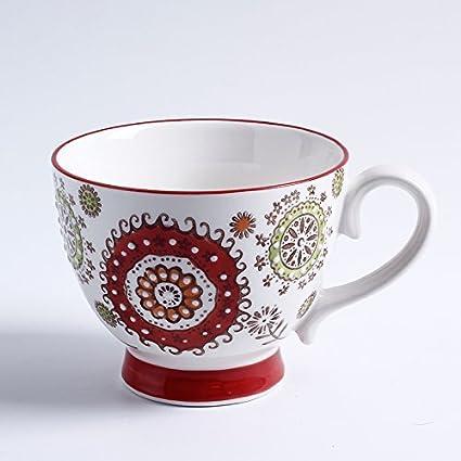 Syhao Desayuno extragrande de avena tazas taza de leche taza de agua horno tazas Mug cucharada