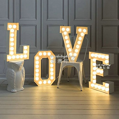 Moderne und Minimalistische Valentinstag Geschenke für Paare Liebesbriefe, Stehleuchte