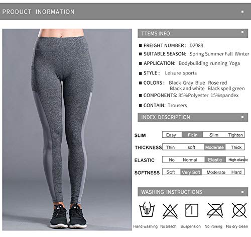 Sportivi Leggings Sypnb Fitness Gym Elasticizzati Slim Donna Da Pantaloni Tagliati Capri a5wwAHq